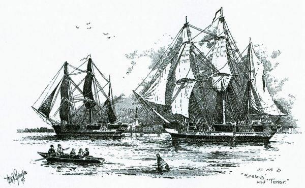"""John Franklin-Expedition- 1845-  public domain"