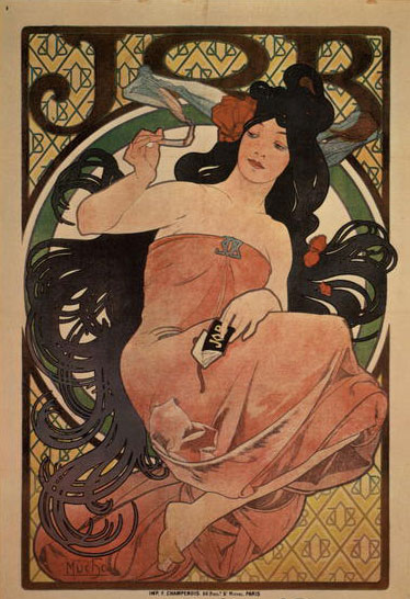 Alphonse-Mucha-JOB-Poster-1897-lithograph