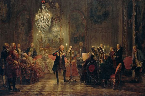 Painting: Concert with Frederick the Great in Sanssouci by Adolph Menzel