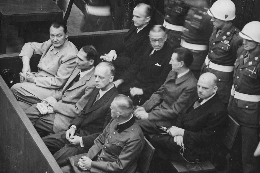 Nuremburg Trials Defendants in the Dock