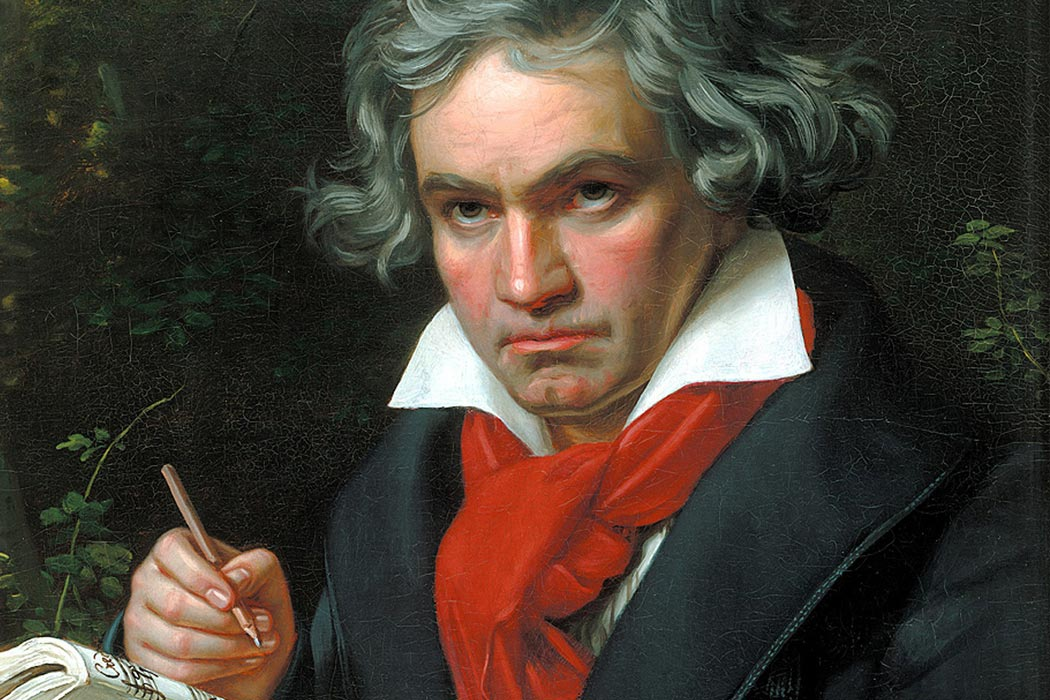 Ludwig van Beethoven Painting by Joseph Karl Stieler, 1819 or 1820