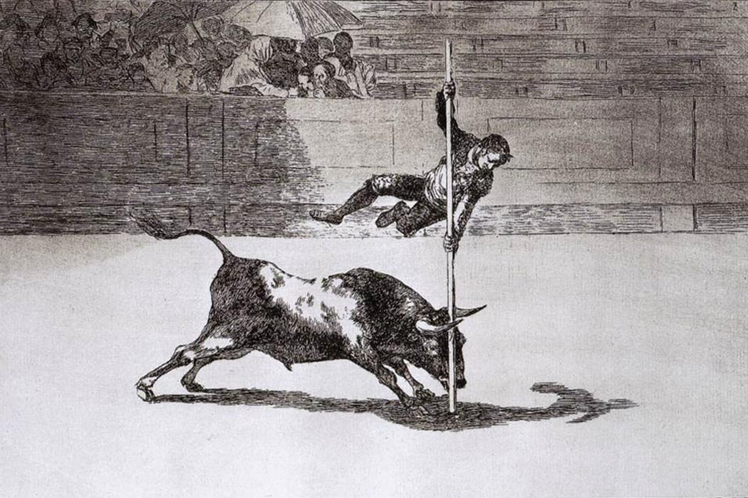 Goya, The Speed and Daring of Juanito Apiñani in the Ring of Madrid 1815-16 Etching and aquatint