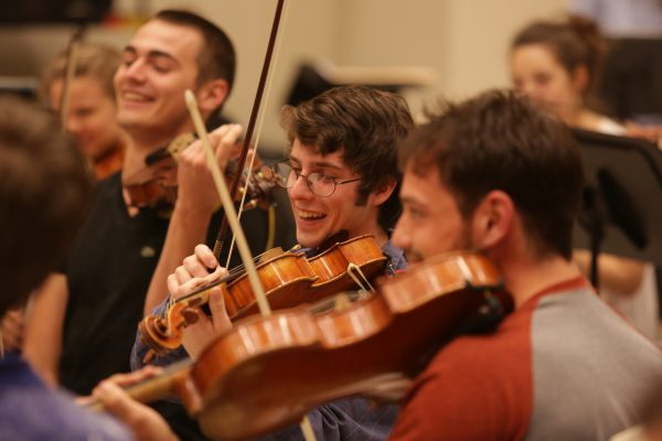 violists laughing