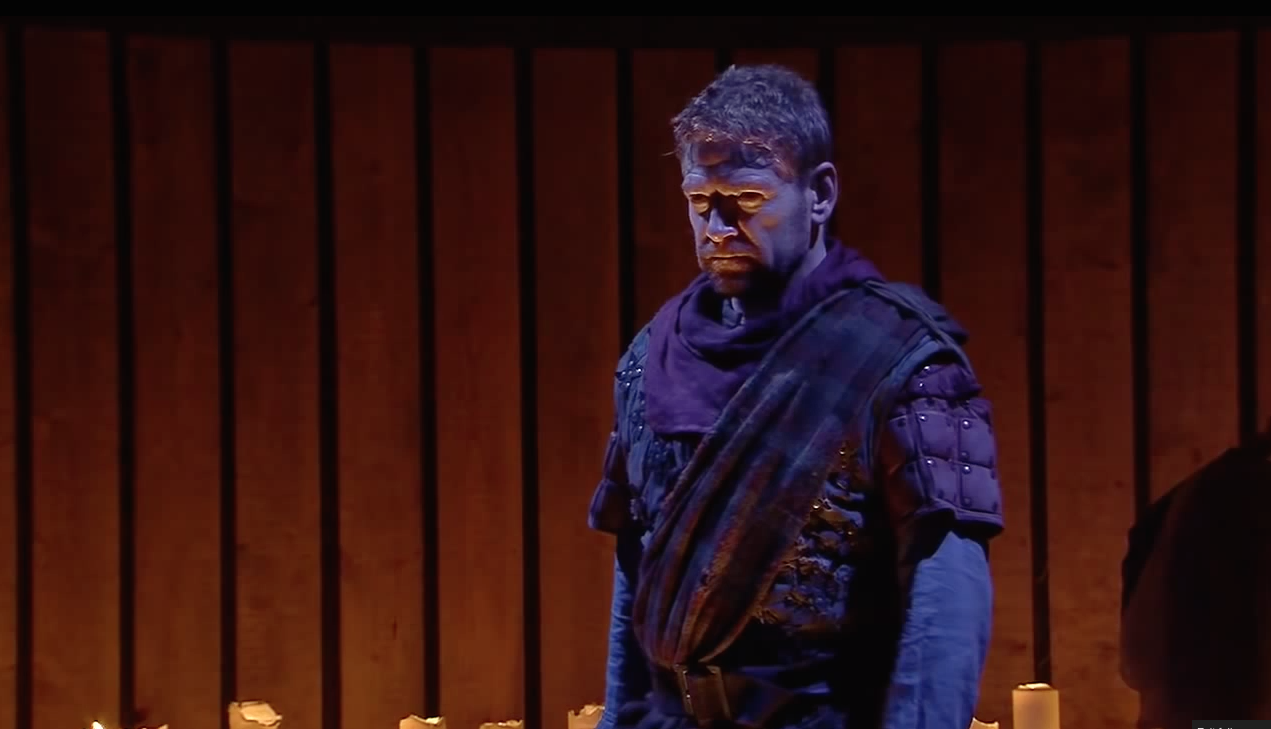 Kenneth Branagh in NT Live's Macbeth (2013). Screenshot.