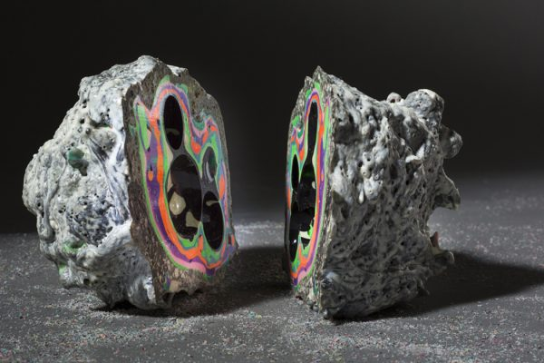 """Void# 25"" by Elyse Graham, Latex and urethane, 5""x 4.5""x 4"", 2012. Photographed by Peter Bohler."
