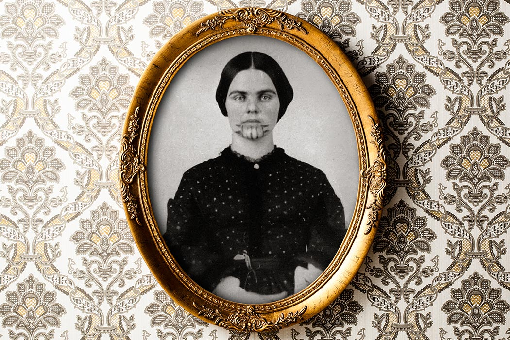 """Olive Oatman, 1857"" by unattributed - Beinecke Rare Book and Manuscript Library. Licensed under Public Domain via Wikimedia Commons - http://commons.wikimedia.org/wiki/File:Olive_Oatman,_1857.png#/media/File:Olive_Oatman,_1857.png"