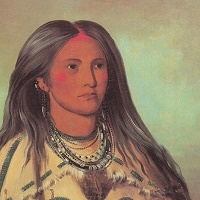 "George Caitlin's painting of a ""Mandan Girl"""