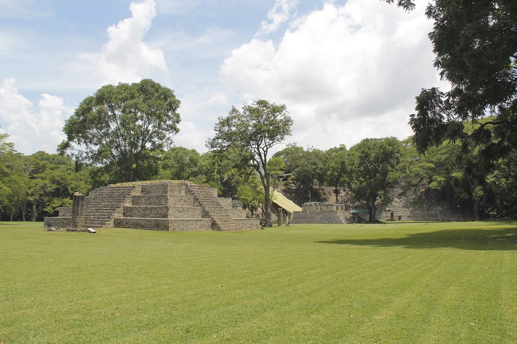 The ancient Mayan archaelogical site of Copan, in Honduras, one of the most important cities of mayan civilization. UNESCO World Heritage Site.