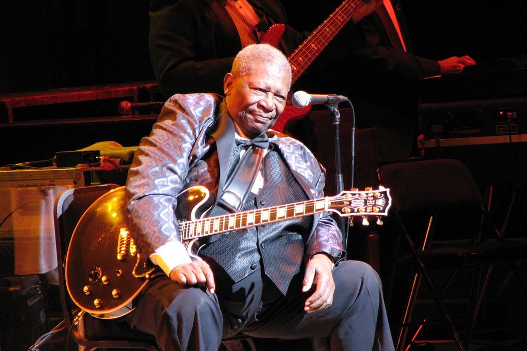 """BB King onstage (Toronto, 2007)"" by Piedmontstyle (talk) (Uploads) - Own work. Licensed under CC BY 3.0 via Wikipedia - http://en.wikipedia.org/wiki/File:BB_King_onstage_(Toronto,_2007).jpg#/media/File:BB_King_onstage_(Toronto,_2007).jpg"
