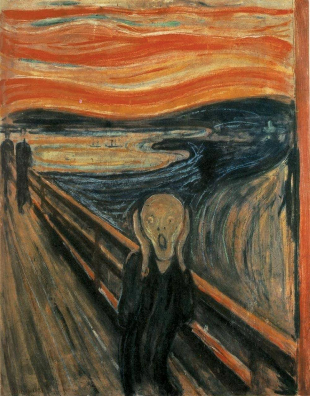 """The Scream"" by Edvard Munch - WebMuseum at ibiblioPage: http://www.ibiblio.org/wm/paint/auth/munch/Image URL: http://www.ibiblio.org/wm/paint/auth/munch/munch.scream.jpg. Licensed under Public Domain via Wikimedia Commons - http://commons.wikimedia.org/wiki/File:The_Scream.jpg#/media/File:The_Scream.jpg"