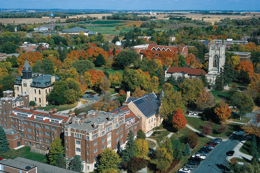"""Carleton College Aerial"" by Dogs1337 - Own work. Licensed under CC0 via Wikimedia Commons"