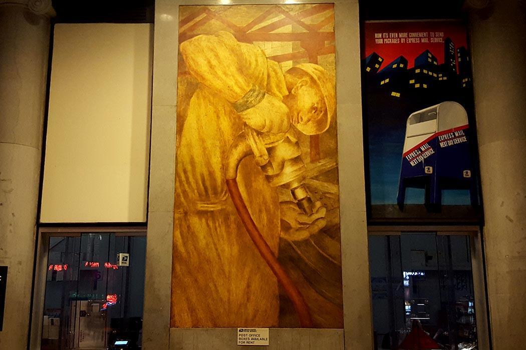 One of the restored Ben Shahn murals at the Bronx General Post Office. Credit Ed García Conde/Welcome2TheBronx.com