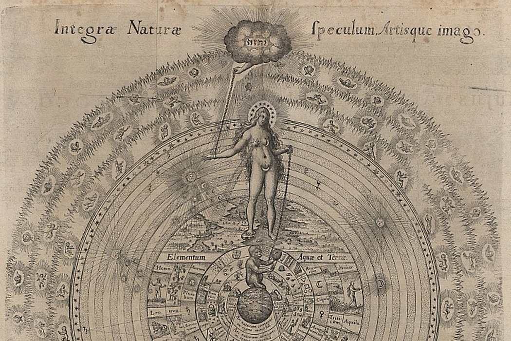 Illustration of the Cosmic order by Robert Fludd, the World Soul.