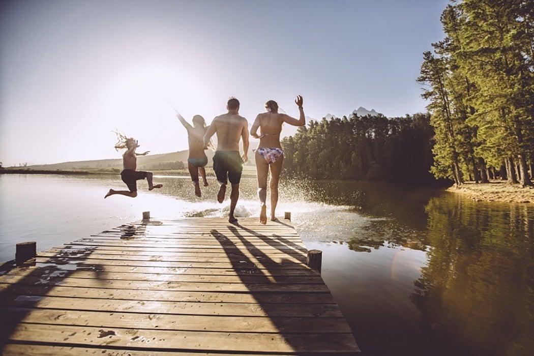 Summer lake jump