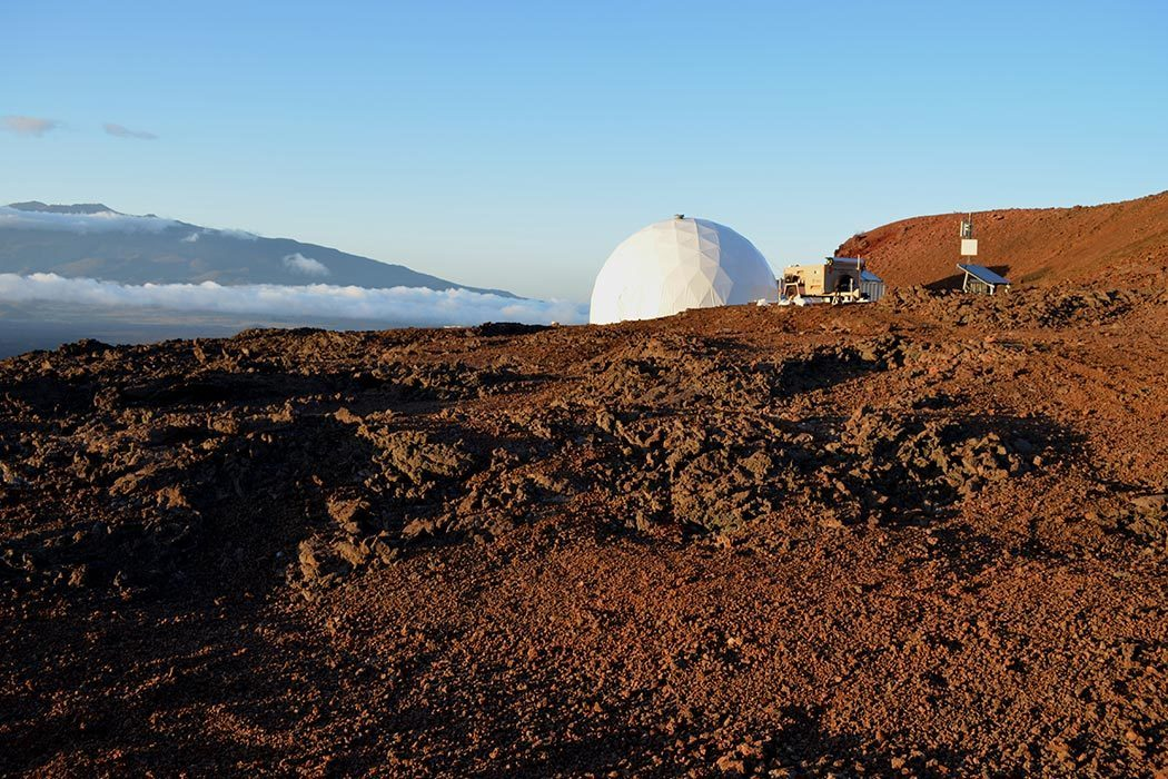 The habitat at sunset - photo by Sian Proctor University of Hawai`i at Manoa