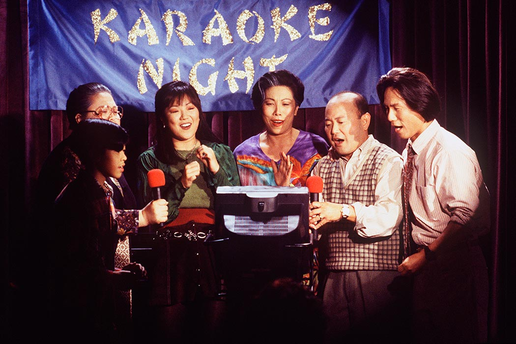 Margaret Cho and cast on ALL-AMERICAN GIRL