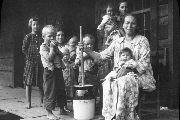 Butter-making, Appalachia, USA, c1917.  (Photo by EFD SS/Heritage Images/Getty Images)