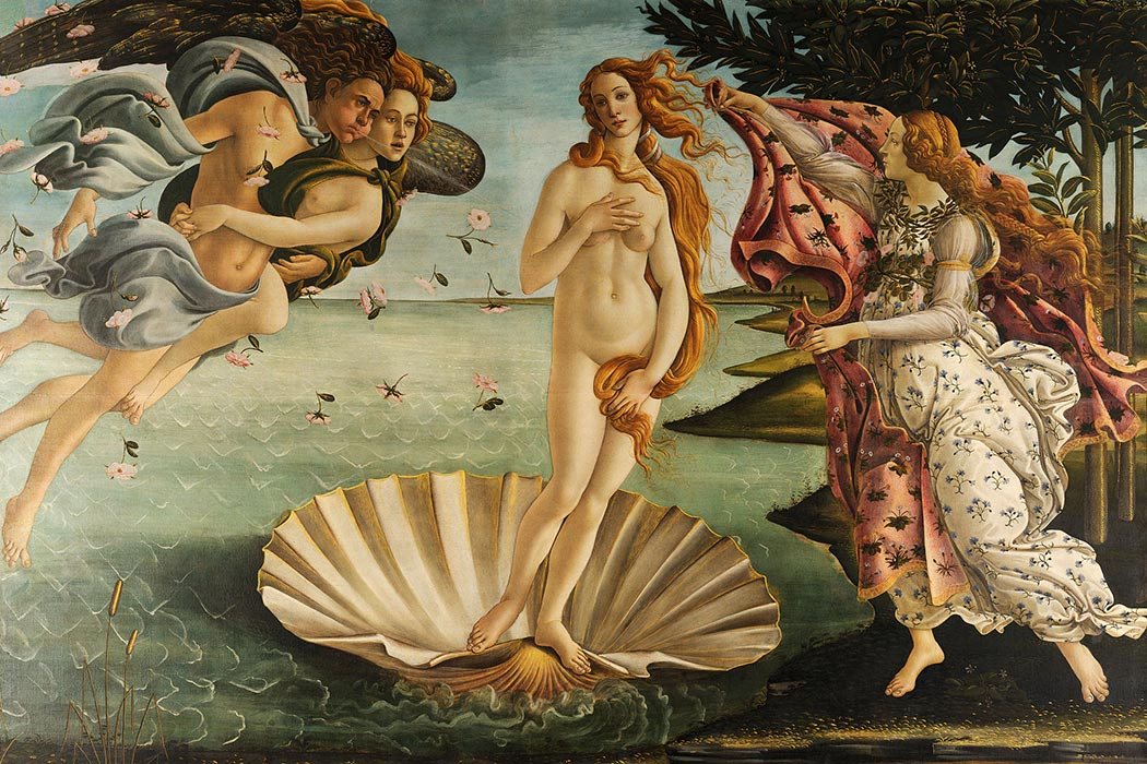 Birth of Venus - Sandro Botticelli [Public domain], via Wikimedia Commons