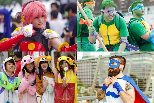 Collage of cosplay