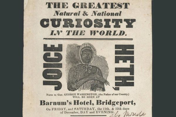 Poster advertising Joice Heth
