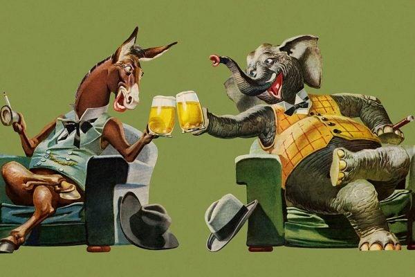 Politicians Having a Beer