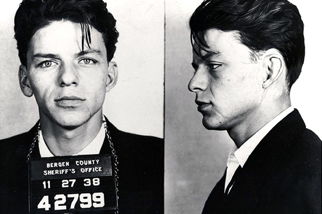 "Frank Sinatra was arrested when he was 19 years old for the crime of ""seduction"" in New Jersey."