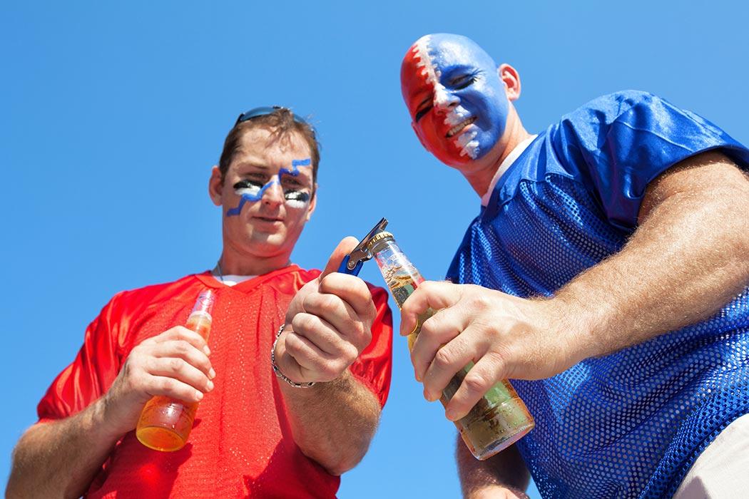 Tailgating at a football game