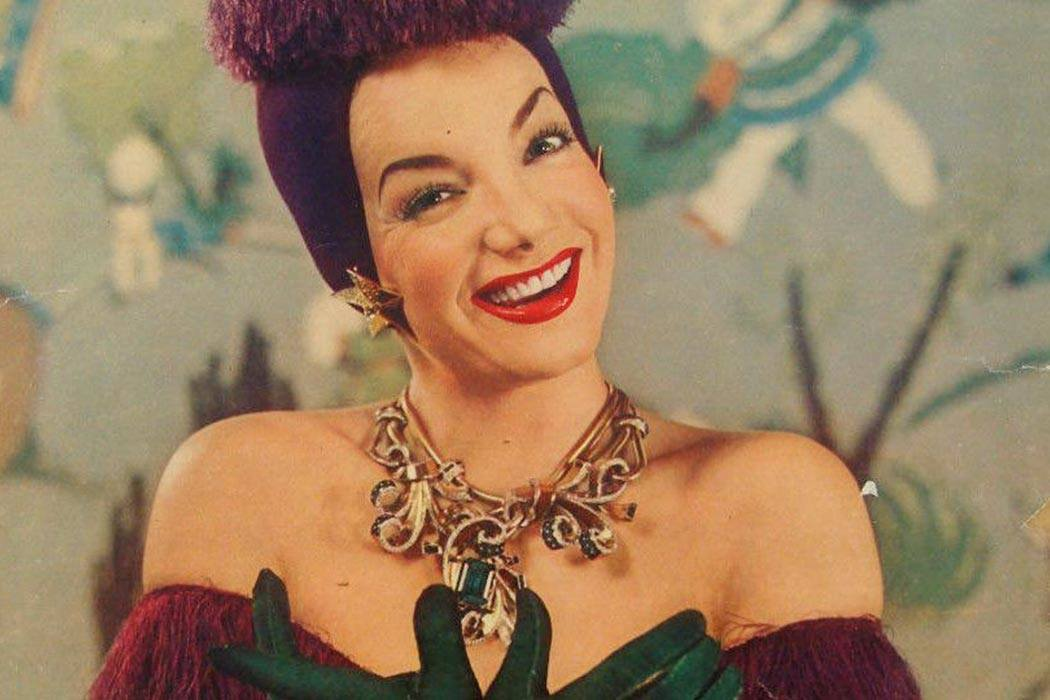 Photo of Carmen Miranda published by the New York Sunday News in 1943.
