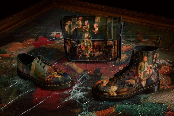 Dr. Martens collaborated with the Soane Museum to depict William Hogarth's 'A Rake's Progress'. Courtesy of Dr. Martens