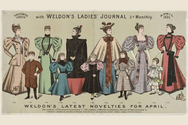 "Weldon's Ladies' Journal April 1895  Public Domain via <a href=""http://elusivemu.se/resources-for-artists-public-domain-fashion-images/#prettyPhoto[gallery-1]/1"" target=""_blank"">elusivemu.se</a>"
