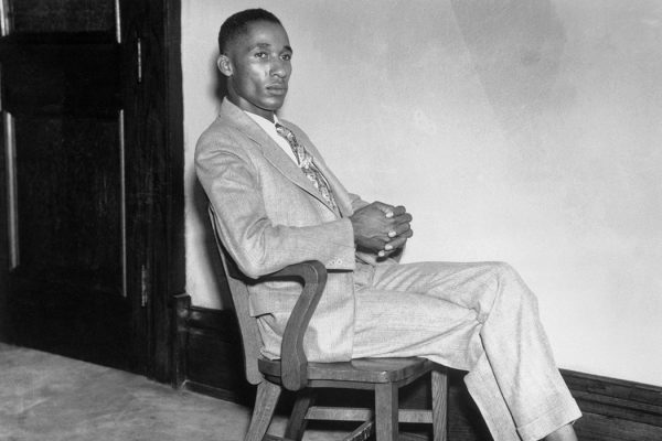 Lincoln University graduate Lloyd L. Gaines, 24 years old, during the mandamus suit trial in which he is seeking to compel the University of Missouri to admit him as a law student. (Copyright Bettmann/Corbis / AP Images)