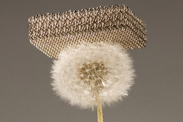 Microlattice is the world's lightest material but is also very strong.