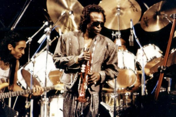 Miles Davis at the Nice Jazz Festival in July 1989