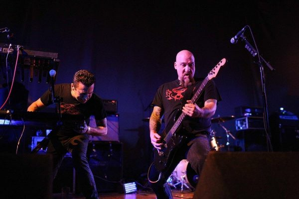 Music act Neurosis performing live at the Brooklyn Masonic Temple, New York, January 19, 2013 - (Copyright Tim Bugbee/The Hell Gate/Corbis / APImages)