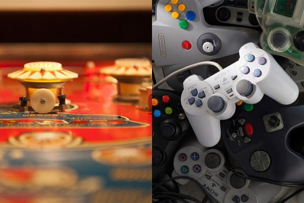 Left: Pinball. Right: Game Controllers