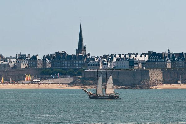 Saint Malo's walled city as viewed from Dinard from the south-west.
