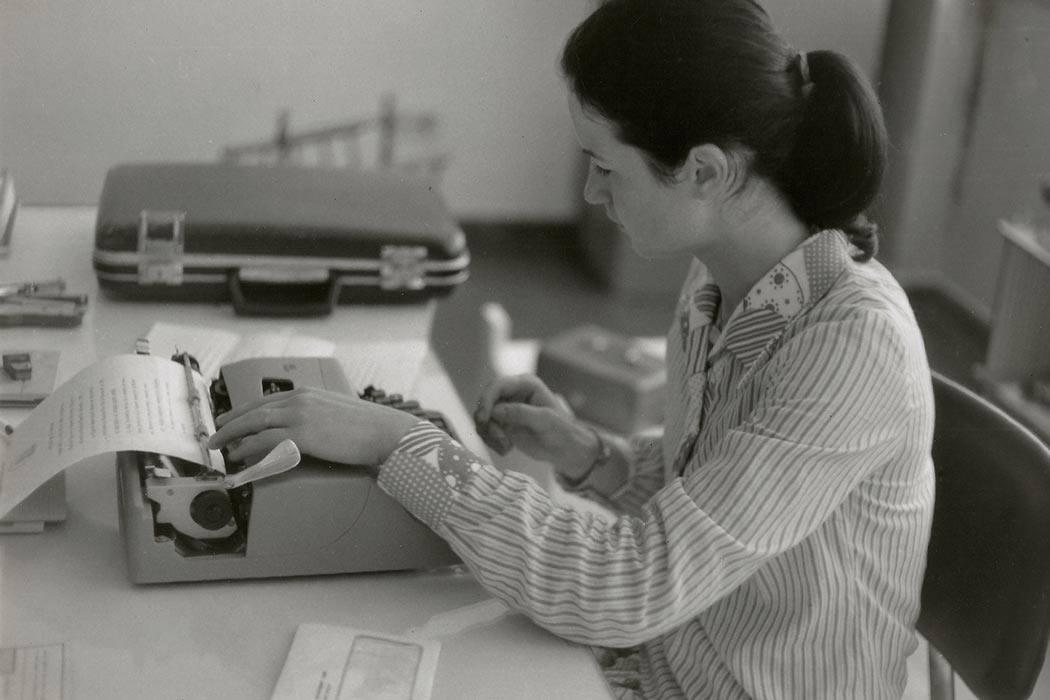 An office secretary - 1970s