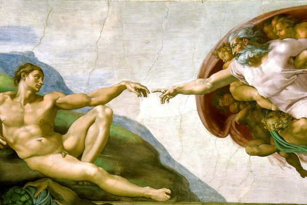 The Creation of Adam by Michelangelo