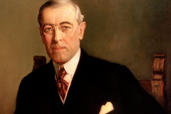 Presidential portrait of Woodrow Wilson