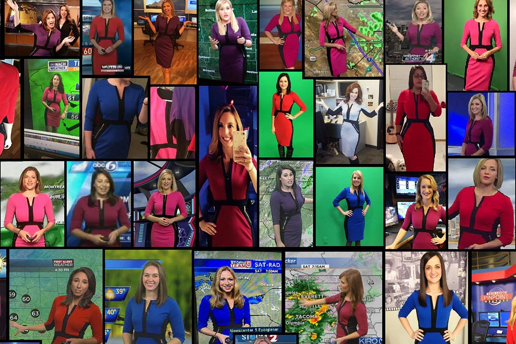 Popular dress among meteorologists.