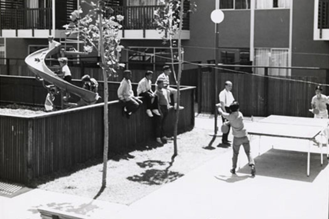 Children playing at the St. Francis Square Housing Development Play Center