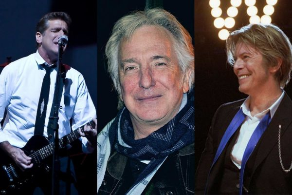 Glenn Frey, Alan Rickman and David Bowie