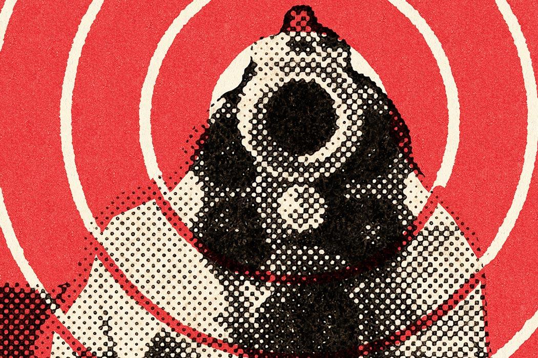 Close range handgun