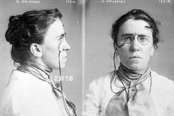 Mug shot taken in 1901 when Goldman was implicated in the assassination of President McKinley