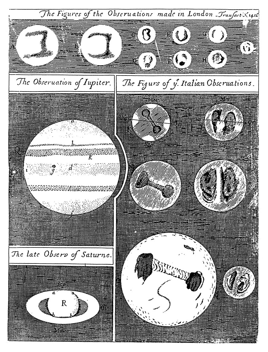 The letters refer to this illustration of Hook's observations.