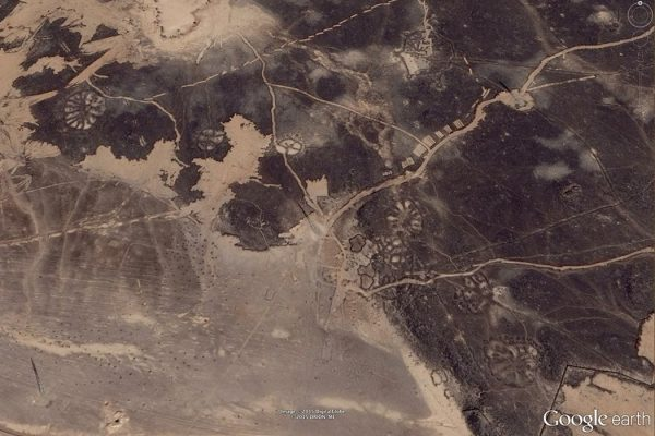 Nazca lines, Saudi Arabia Photo Credit: Google Earth