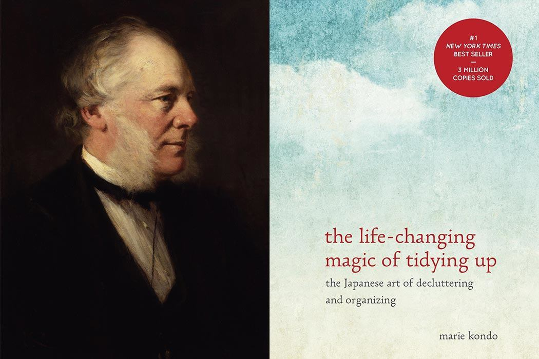 Samuel Smiles by Sir George Reid, The Life-Changing Magic of Tidying Up: The Japanese Art of Decluttering and Organizing by Marie Kondo