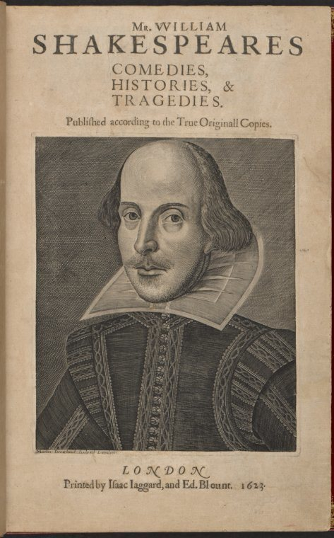 "Rare Book Division, The New York Public Library. ""Mr. William Shakespeares Comedies, Histories, & Tragedies. (Title page)"" The New York Public Library Digital Collections. 1623."