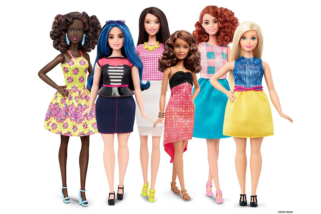 Mattel's new line of Barbie dolls. Photo courtesy of Mattel