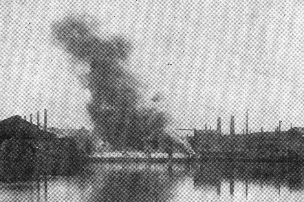 Burning of Barges during Homestead Strike